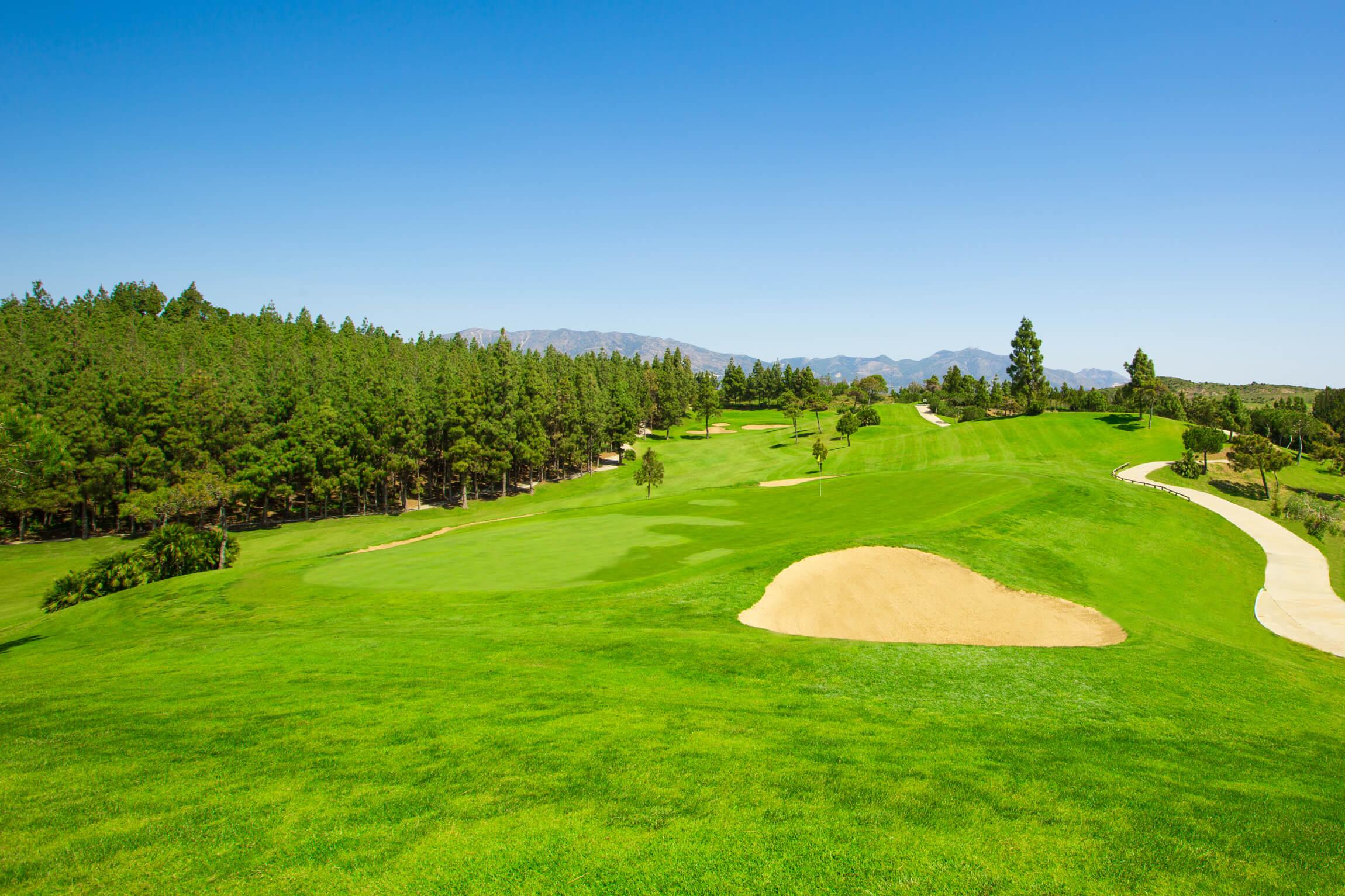 Chaparral Golf Club, Mijas, Costa del Sol, hoyo 14