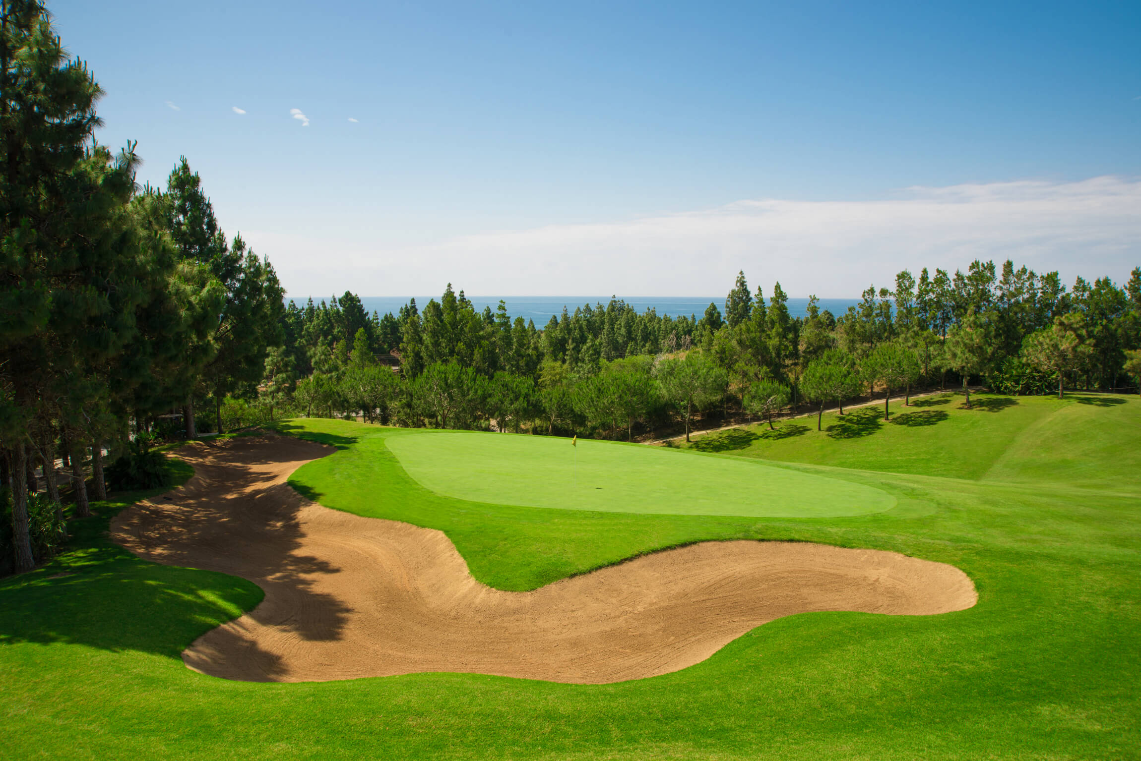 Chaparral Golf Club, Mijas, Costa del Sol, hoyo 9