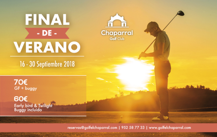 end of summer offer chaparral golf club, mijas, costa del sol, español