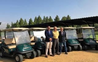 nuevos buggies club car chaparral golf club, mijas, costa del sol