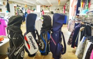 golf bag, proshop, chaparral golf club, mijas, costa del sol