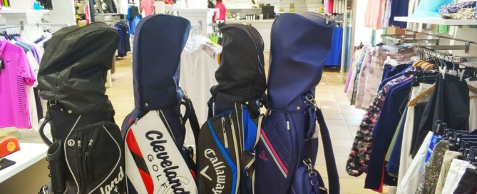 golf bag, proshop, chaparral golf club, mijas, costa del sol