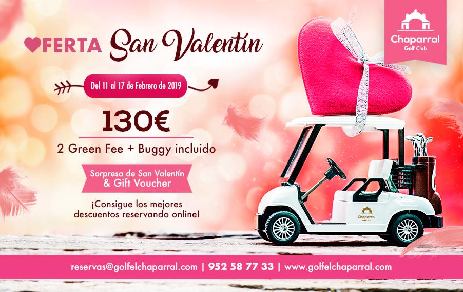 Especial San Valentín 2019, Chaparral Golf Club, Mijas, Costa del Sol.