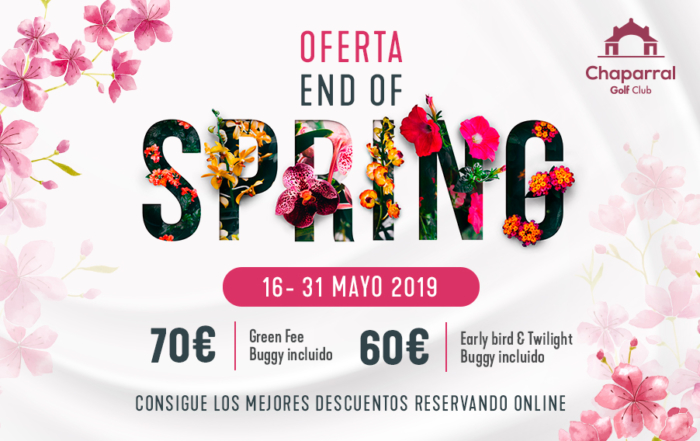 end of spring offer, chaparral golf club, mijas, costa del sol