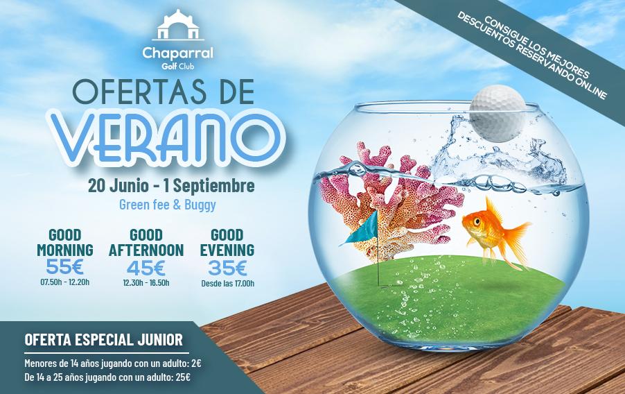 CHAPARRAL GOLF CLUB, SUMMER OFFER 2019, COSTA DEL SOL, MIJAS, SPAIN