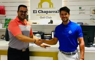 MANUEL MORUGAN, NEW SPONSORSHIP CHAPARRAL GOLF CLUB, COSTA DEL SOL